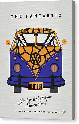 My Superhero-vw-t1-the Thing Canvas Print by Chungkong Art