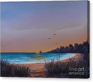 Myrtle Beach Sunset Canvas Print by Jerry Walker