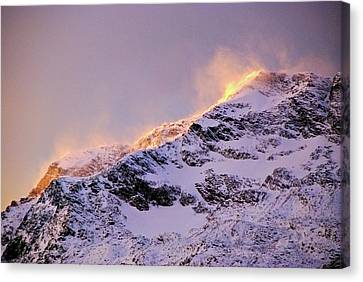 mystery mountains in North of Norway Canvas Print