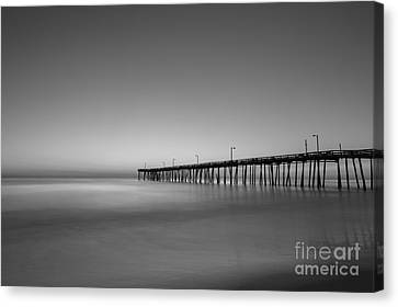 Nags Head Fishing Pier Sunrise Canvas Print
