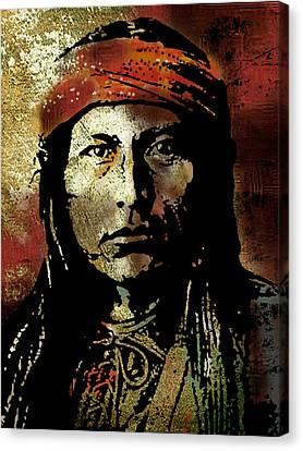 Indian Portraits Canvas Print - Naichez by Paul Sachtleben