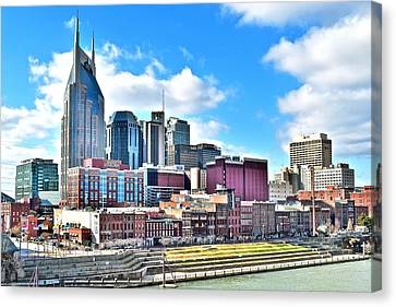 Nashville From Above Canvas Print by Frozen in Time Fine Art Photography