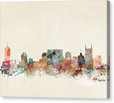 Nashville Tennessee Skyline  Canvas Print by Bri B