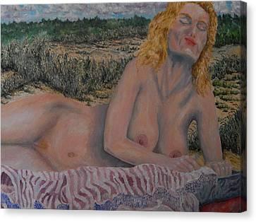 Natural Blonde Canvas Print