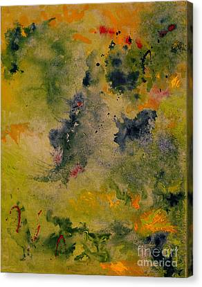 Canvas Print featuring the painting Nebula by Karen Fleschler