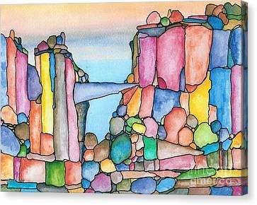 Neon Rockies Version 2 Canvas Print by Janet Hinshaw