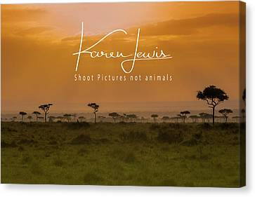 Canvas Print featuring the photograph New Day On The Mara by Karen Lewis