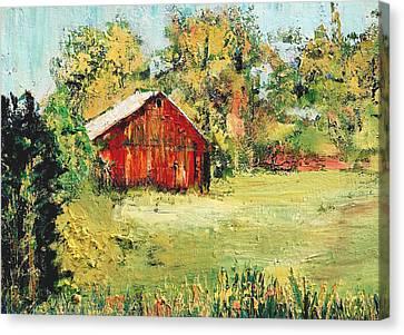 New England Barn Canvas Print by Julia S Powell