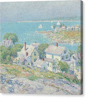 New England Village Canvas Print - New England Headlands by Childe Hassam