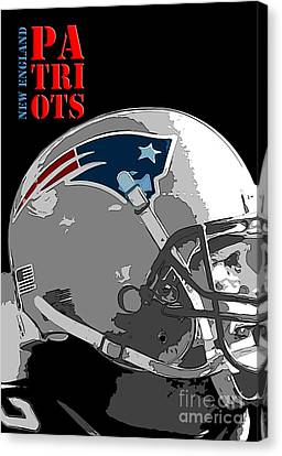 New England Patriots Original Typography Football Team Canvas Print