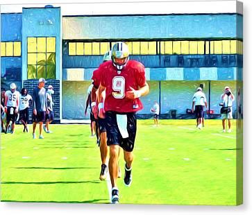 New Orleans Saints Drew Brees  Canvas Print by D S Images