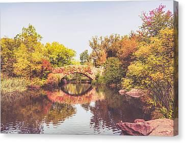 New York City Autumn Canvas Print by Vivienne Gucwa
