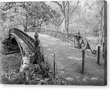 New York City, Central Park, Bridge Canvas Print by Everett