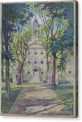 Apple Tree Canvas Print - New York City Hospital by Gilbert Sackerman