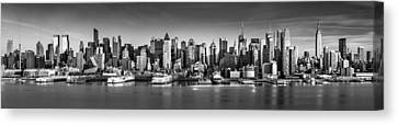 Canvas Print featuring the photograph New York City Panorama by Mihai Andritoiu