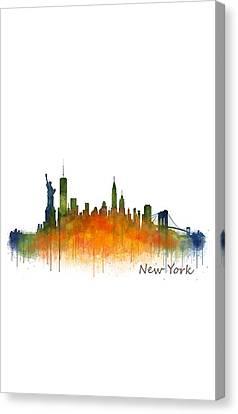 New York City Skyline Hq V02 Canvas Print