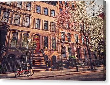 New York City - Springtime - West Village Canvas Print by Vivienne Gucwa
