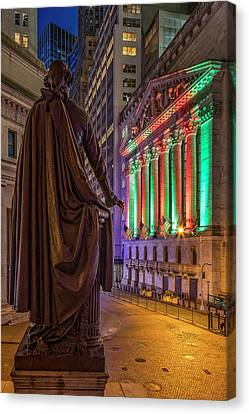New York City Stock Exchange Wall Street Nyse Canvas Print by Susan Candelario