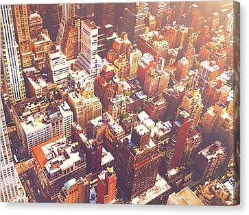 Nyc Rooftop Canvas Print - New York City Summer by Vivienne Gucwa