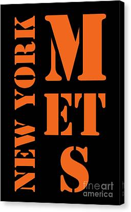 New York Mets Stadium Canvas Print - New York Mets Typography by Pablo Franchi