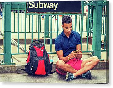 New York Subway Station Canvas Print