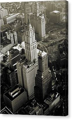Vintage Canvas Print - New York Woolworth Building - Vintage Photo Art Print by Art America Gallery Peter Potter