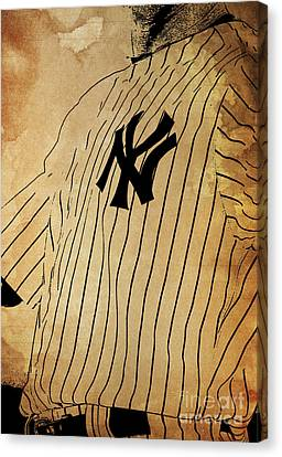 New York Yankees Baseball Team Vintage Card Canvas Print by Pablo Franchi