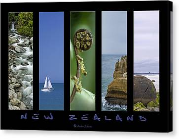 New Zealand Canvas Print by Andrea Cadwallader
