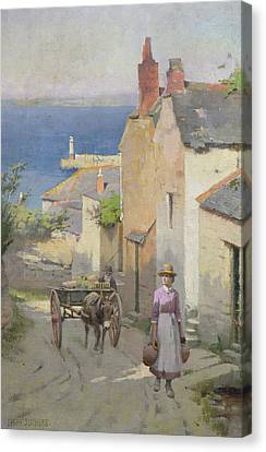 Newlyn From The Bottom Of Adit Lane Canvas Print