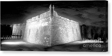 Night At The Castillo Canvas Print by David Lee Thompson