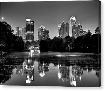 Night Atlanta.piedmont Park Lake. Canvas Print