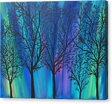 Night Beauty Canvas Print by Kim Mlyniec
