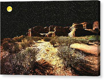 Night In The Arches Canvas Print