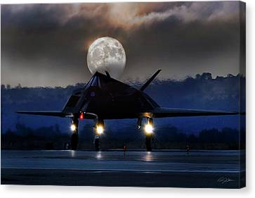 Jet Star Canvas Print - Night Stalker by Peter Chilelli