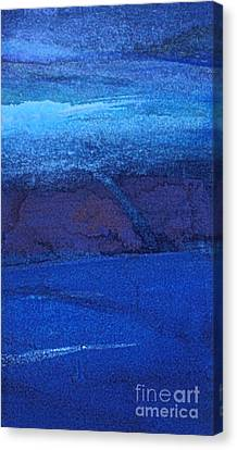 Canvas Print featuring the painting Night Surf by Diane Ursin