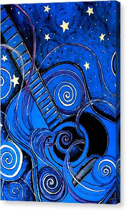 Night's Melody A.k.a. Blue Guitar Canvas Print