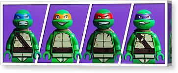 Ninja Turtles Canvas Print by Samuel Whitton