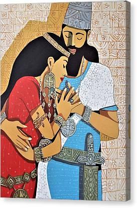 Ninos And Shamiram Canvas Print