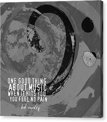 No Pain Bob Marley V1 Canvas Print by Brandi Fitzgerald