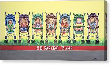 No Parking Zone Canvas Print
