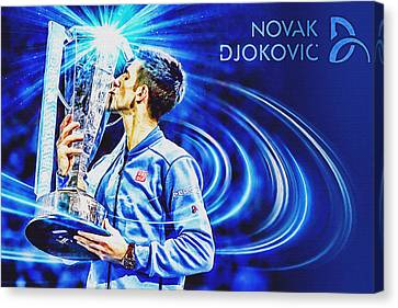 Atp World Tour Canvas Print - No1e  -  Novak Djokovic by Nenad Cerovic
