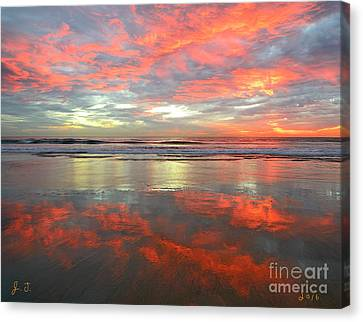 North County Reflections Canvas Print by John F Tsumas