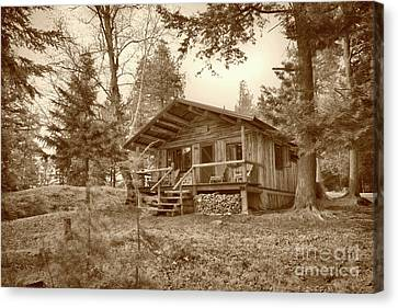 North Maine Cabin Canvas Print by Skip Willits