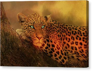 Not Afraid Of The Dark Canvas Print by Theresa Campbell