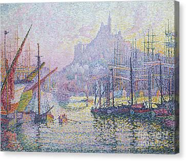 Dappled Light Canvas Print - Notre Dame De La Garde, La Bonne Mere, Marseilles by Paul Signac