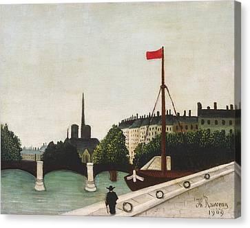 Notre Dame Canvas Print by Henri Rousseau