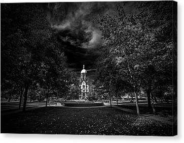 Notre Dame University Black White Canvas Print by David Haskett