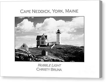 Nubble Light Canvas Print by Christy Bruna