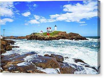 Nubble Lighthouse Canvas Print - Nubble Light by Robert Clifford