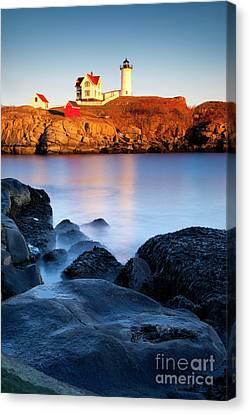 Nubble Lighthouse Canvas Print - Nubble Lighthouse by Brian Jannsen